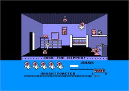 In game image of Jack the Nipper on the Amstrad CPC.