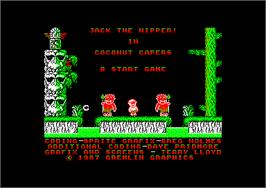 In game image of Jack the Nipper 2: Coconut Capers on the Amstrad CPC.