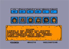 In game image of Maître des Âmes on the Amstrad CPC.