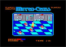 In game image of Metro-Cross on the Amstrad CPC.