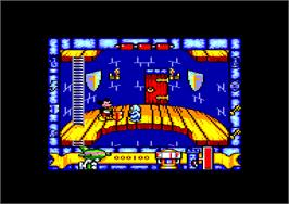 In game image of Mickey Mouse: The Computer Game on the Amstrad CPC.