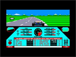 In game image of Nigel Mansell's Grand Prix on the Amstrad CPC.