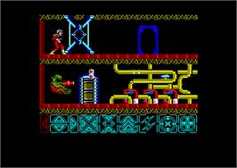 In game image of Obliterator on the Amstrad CPC.