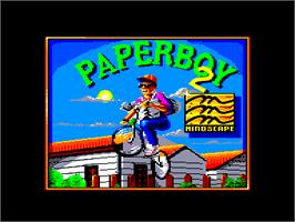 In game image of Paperboy 2 on the Amstrad CPC.