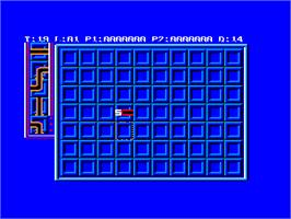In game image of Pipe Mania on the Amstrad CPC.