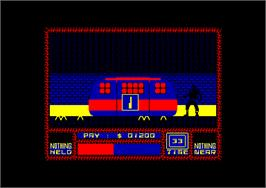 In game image of Saboteur II: Avenging Angel on the Amstrad CPC.