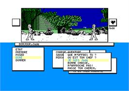 In game image of Sapiens on the Amstrad CPC.