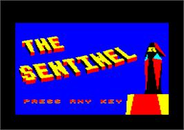 In game image of Sentinel on the Amstrad CPC.