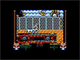 In game image of Shadow Dancer on the Amstrad CPC.