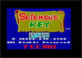 In game image of Solomon's Key on the Amstrad CPC.