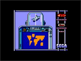 In game image of Sonic Boom on the Amstrad CPC.