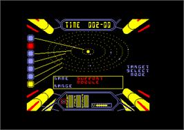 In game image of Starstrike 2 on the Amstrad CPC.