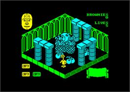 In game image of Sweevo's World on the Amstrad CPC.