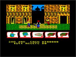 In game image of Taipan on the Amstrad CPC.