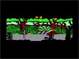 In game image of Tarzan on the Amstrad CPC.