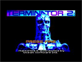 In game image of Terminator 2 - Judgment Day on the Amstrad CPC.