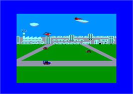 In game image of Theatre Europe on the Amstrad CPC.