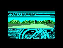 In game image of Toyota Celica GT Rally on the Amstrad CPC.