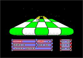 In game image of Trail Blazer on the Amstrad CPC.