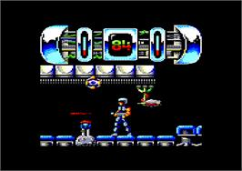 In game image of Trantor the Last Stormtrooper on the Amstrad CPC.