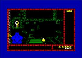 In game image of Trap Door on the Amstrad CPC.