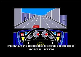 In game image of Turbo Esprit on the Amstrad CPC.