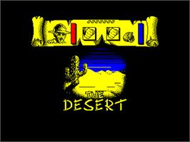 In game image of Tusker on the Amstrad CPC.