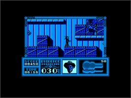 In game image of Untouchables on the Amstrad CPC.