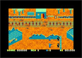 In game image of Who Dares Wins 2 on the Amstrad CPC.
