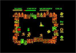 In game image of Wizard's Lair on the Amstrad CPC.