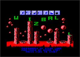 In game image of Wizball on the Amstrad CPC.