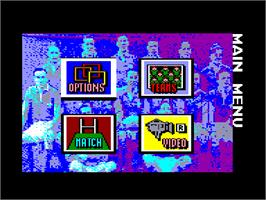 In game image of World Class Soccer on the Amstrad CPC.