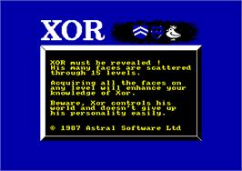 In game image of Xor on the Amstrad CPC.