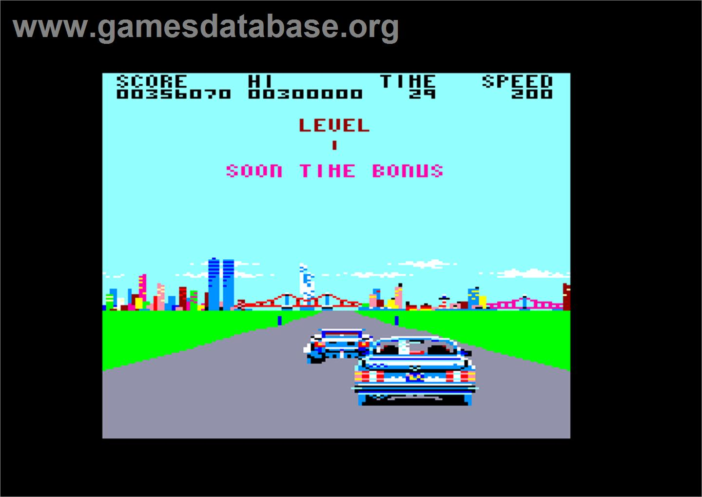 Crazy Cars - Amstrad CPC - Artwork - In Game