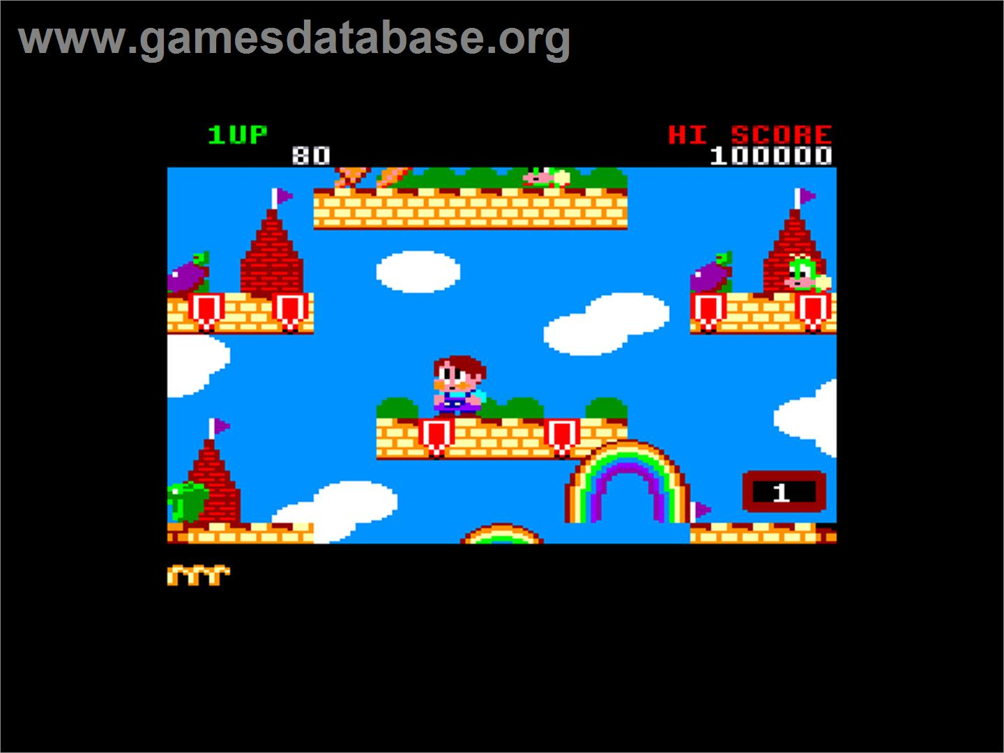 Rainbow Islands: The Story of Bubble Bobble 2 - Amstrad CPC - Artwork - In Game