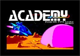 Title screen of Academy: Tau Ceti 2 on the Amstrad CPC.