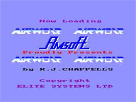 Title screen of Airwolf on the Amstrad CPC.