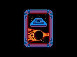 Title screen of Alien 8 on the Amstrad CPC.
