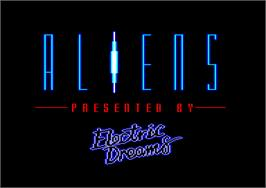 Title screen of Aliens on the Amstrad CPC.