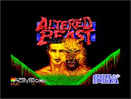 Title screen of Altered Beast on the Amstrad CPC.