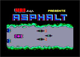 Title screen of Asphalt on the Amstrad CPC.