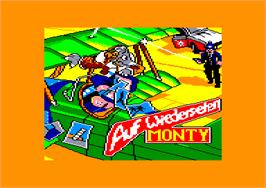 Title screen of Auf Wiedersehen Monty on the Amstrad CPC.