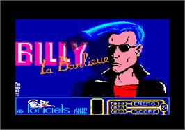 Title screen of Billy la Banlieue on the Amstrad CPC.