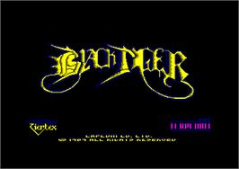 Title screen of Black Tiger on the Amstrad CPC.
