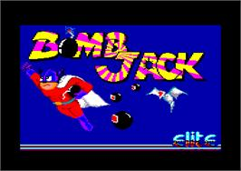 Title screen of Bomb Jack on the Amstrad CPC.