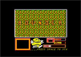Title screen of Bounder on the Amstrad CPC.