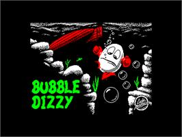 Title screen of Bubble Dizzy on the Amstrad CPC.