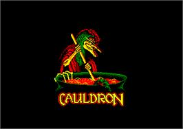 Title screen of Cauldron on the Amstrad CPC.
