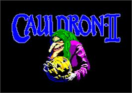 Title screen of Cauldron 2: The Pumpkin Strikes Back on the Amstrad CPC.
