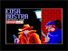Title screen of Cosa Nostra on the Amstrad CPC.